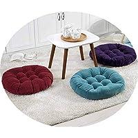 畳の脂肪マット55センチメートルソリッドカラーコーデュロイ厚い布団のクッションウィンドウの窓マット,コーヒーの色,55 * 55方形
