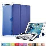 MS factory iPad Air 2 スマート カバー バック ケース 一体型 オートスリープ Air2 スタンド ケースカバー 全11色 ネイビー ブルー 青 IPDA2-SMART-NV