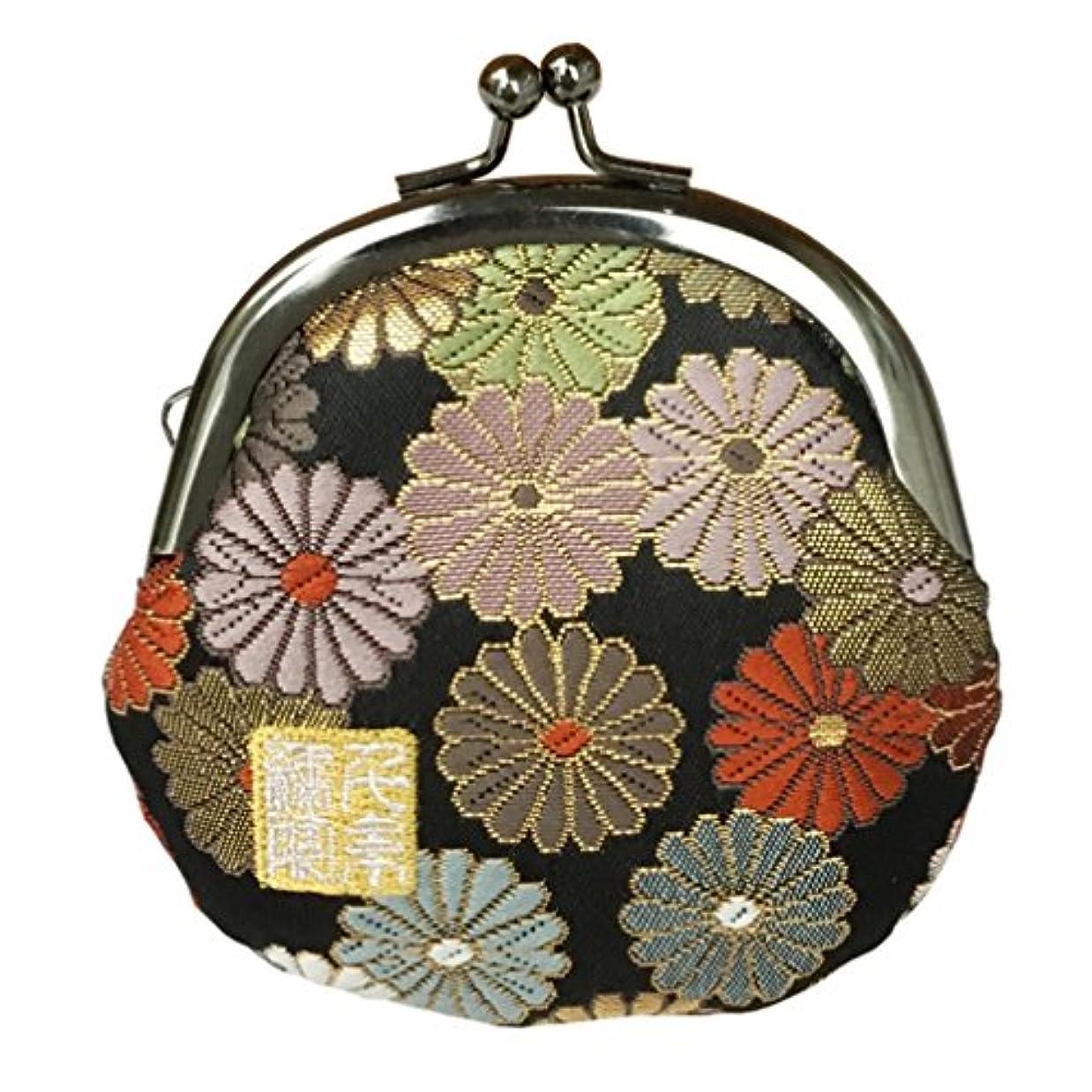 千糸繍院 西陣織 金襴 がま口 2.5寸丸型財布/小銭入れ(裏地付き)