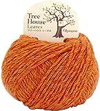 オリムパス製絲 ツリーハウス リーブス 毛糸 並太 Col.4 オレンジ 系 40g 約72m