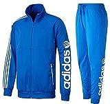 adidas アディダス NEO ネオ トレーニングウェア SC ジャケット×ロングパンツ 上下 セットジャージ O(177-183cm) M31974 ブルー/ホワイト 国内正規品
