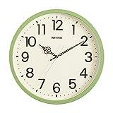 おしゃれでシンプル、遠くからでも見やすい壁掛け時計(音が気にならない連続秒針)メーカー保証1年