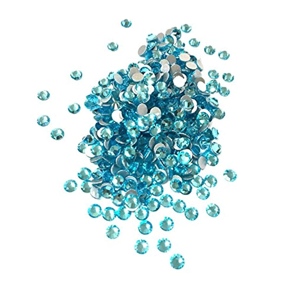 であるまた嵐が丘【ネイルウーマン】最高品質ガラスストーン!スワロ同等の輝き! アクアマリン 水色 ライトブルー (約100粒入り) (SS16, アクアマリン)