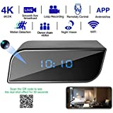 Spy hidden 720P to 4K camera clock WiFi wireless 2019 latest IP camera, with seven levels of motion detection sensitivity optional, reduce false positives, video synchronization, fully automatic deletion, financial level password protection, available via iPhone / Android / PC operates the camera. More features are waiting for you to use.