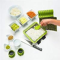 1セットSushiquikスーパー簡単寿司作りキットDIY寿司メーカーツールマシンセットライスローラー金型ローラーカッターキッチンアクセサリー