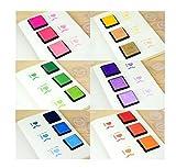 カラフル スタンプ 台 クラフト インク パッド 20色 セット 年賀状 お祝い 結婚式 カード作り