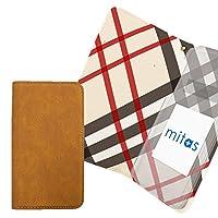 mitas HTC U11 601HT ケース 手帳型 内側プリント (349) チェック アイボリー 外側ブラウン RB-2123-IV-BR/601HT
