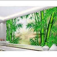 Xbwy カスタム壁紙、竹3D中国の壁紙の壁画、リビングルームのテレビソファの背景寝室の壁紙の壁3 D-280X200Cm