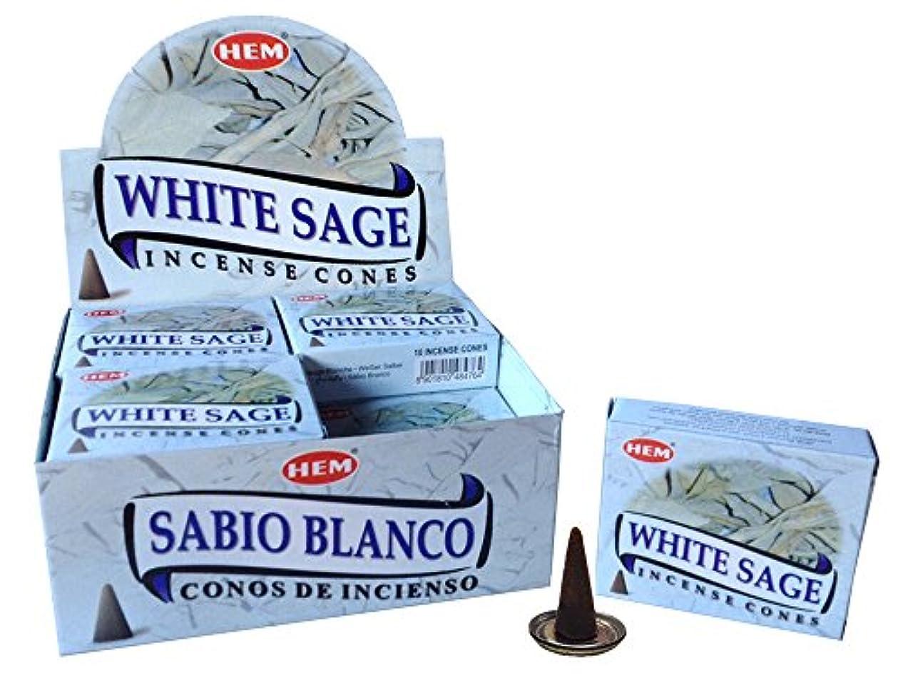 鷹ソーダ水モードHEM ホワイトセージ コーン 12個セット