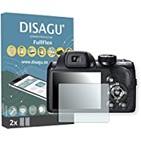 2 x Disagu FullFlex Fujifilm FinePix S4500対応 汚れ防止画面プロテクター(ディスプレイの曲面にもきれいにフィットします)