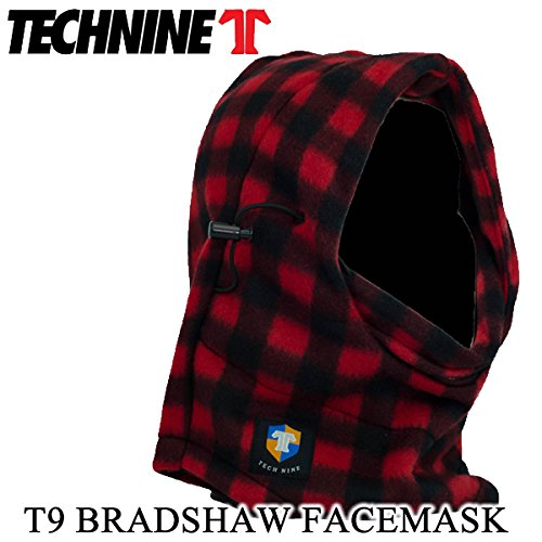 (technine テックナイン) スノーボード フードウォーマー (technine テックナイン)BRADSHAW FLEECE FACEMASK/RED FLANNEL スノーボード 帽子 ネックウォーマー フェイスマスク