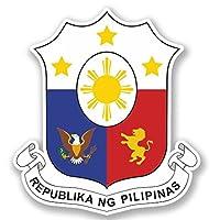 2 x 15cm フィリピン - ノートPCやタブレット用ビニールステッカー #4368
