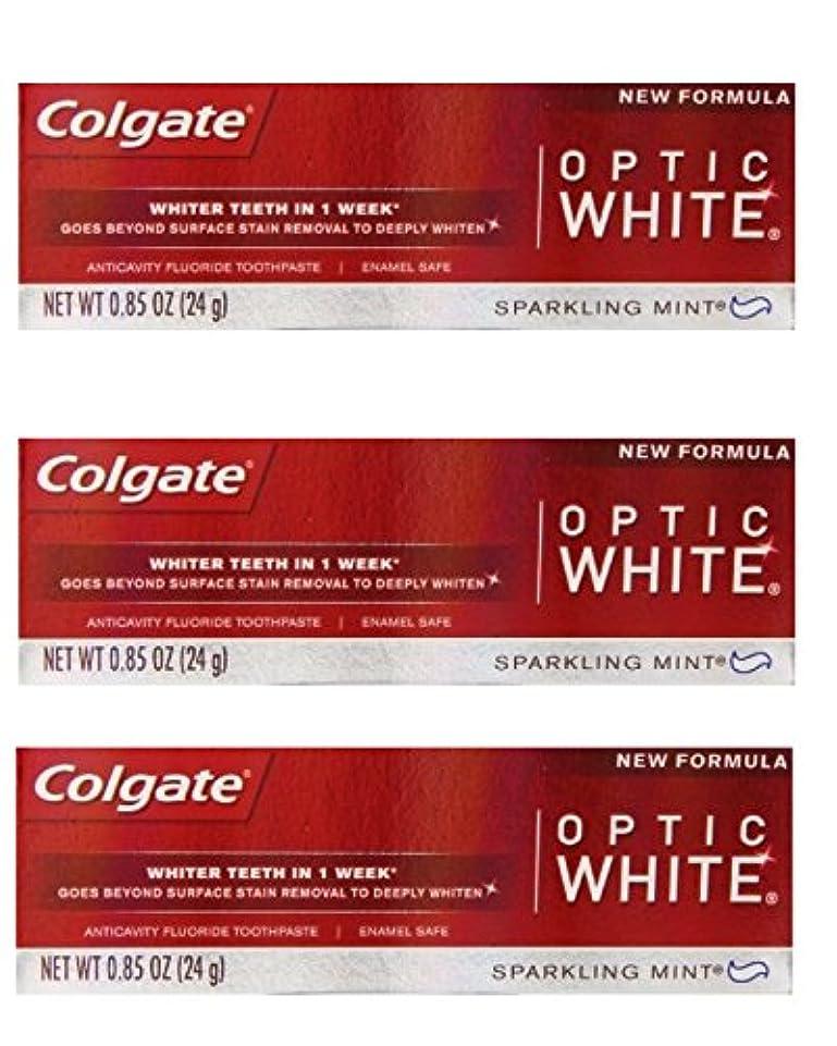 有名人分泌する頭蓋骨Colgate Optic White Toothpaste Sparkling Mint 0.85 Oz Travel Size (Pack of 3) by Optic