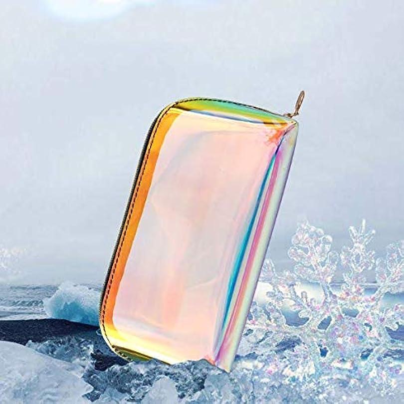 拡散するエスカレート致命的な透明な虹レーザーホログラムコスメティックバッグオーガナイザー大F-色のファッション化粧品トラベルバッグホログラフィックメイクアップバッグYY,S