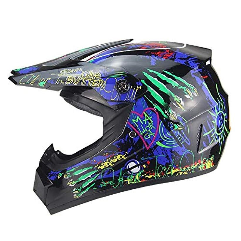 矢サーバントペネロペTOMSSL高品質 大面積落書き山下り坂保護ヘルメット男性と女性のオートバイフルヘルメットオフロードライディングヘルメットABS素材 TOMSSL高品質 (色 : Black, Size : XL)