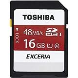 東芝 SDHCカード 16GB Class10 UHS-I対応 (最大転送速度48MB/s) 5年保証 日本製 (国内正規品) SD-FU016G