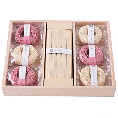 okuru そうめん 素麺 お中元 内祝い 贈り物 贈答品 ギフトセット 紅白麺 50a/un 1100g