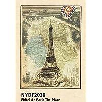 【NYDF2030】□【BL1】Eiffel de Paris Tin Plate
