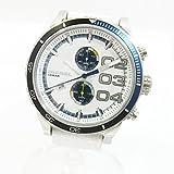 DIESELディーゼル DZ-4351 ダブルダウン メンズ クロノグラフ クオーツ 腕時計 ホワイト×ブルー文字盤 中古