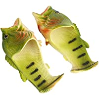 Fish Slippers, Unisex Funny Animal Slippers Beach Fish Sandals Bathroom Slippers Beach Pool Shoes Shower Flip Flops Shoes(44-45)