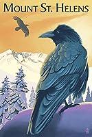 マウントセントヘレンズ、ワシントン–Ravens 36 x 54 Giclee Print LANT-54802-36x54