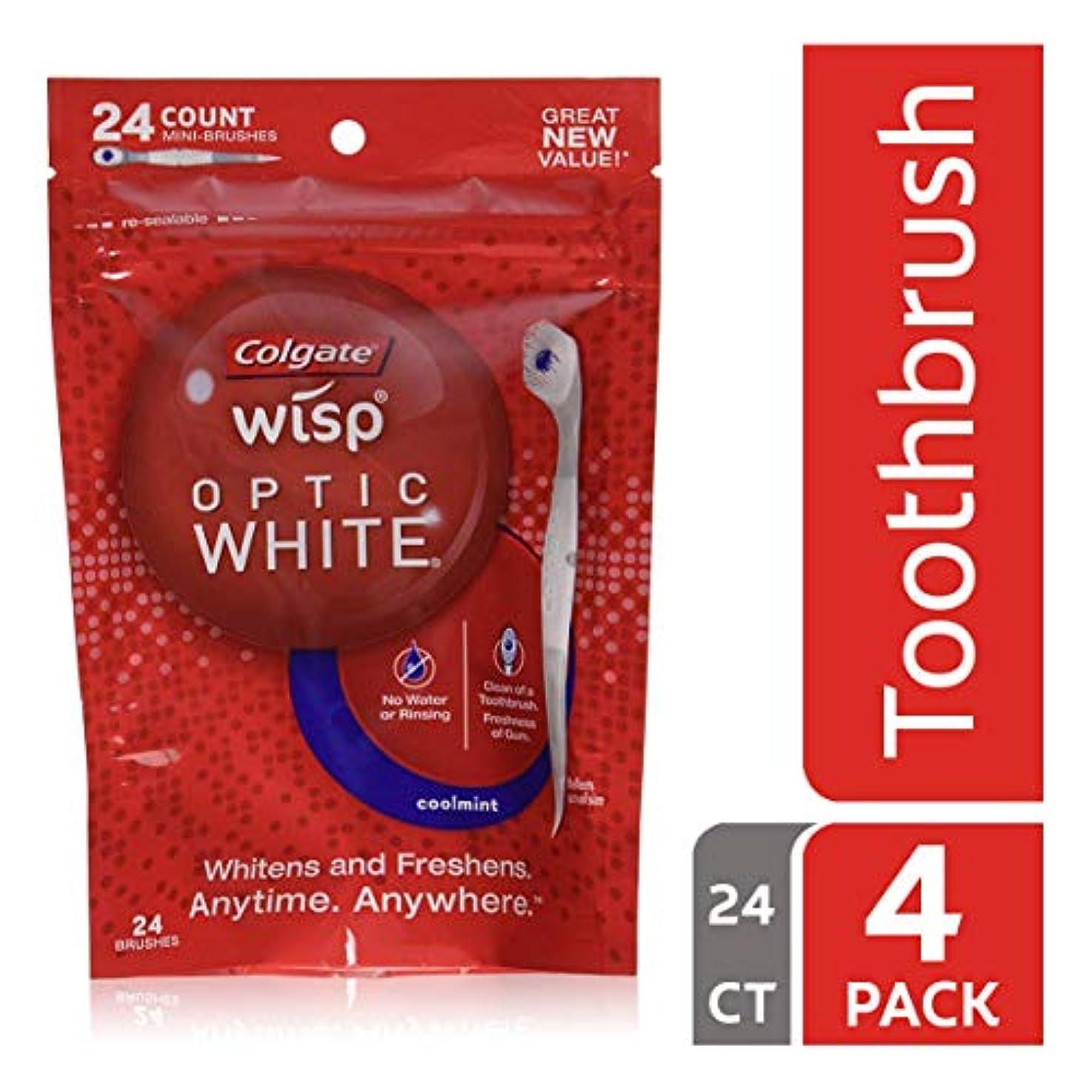 解決する合わせて空コルゲート ポータブルミニ歯ブラシ オプティックホワイト、クールミント 24カウント (4袋 (24x4 ミニブラシ))