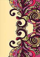 ポスター ウォールステッカー シール式ステッカー 飾り 257×364㎜ B4 写真 フォト 壁 インテリア おしゃれ 剥がせる wall sticker poster pb4wsxxxxx-006032-ds その他 紫 パープル 模様
