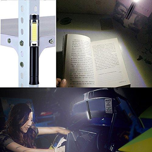 LightsEtc LED ワークライトCOB作業灯 強力マグネット式/クリップ式小型ハンディライト 単三電池三本付属 キャンプ/非常灯/整備/防災にもお勧め!
