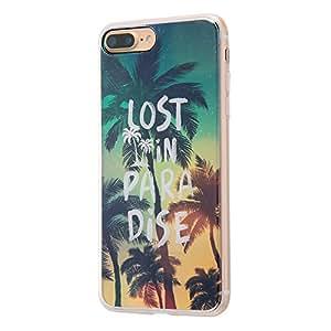 イングレム iPhone7 Plus ケース TPUケース+背面パネル オリジナルデザイン/LOST IN PARADICE  IJ-P7PTP/AK023