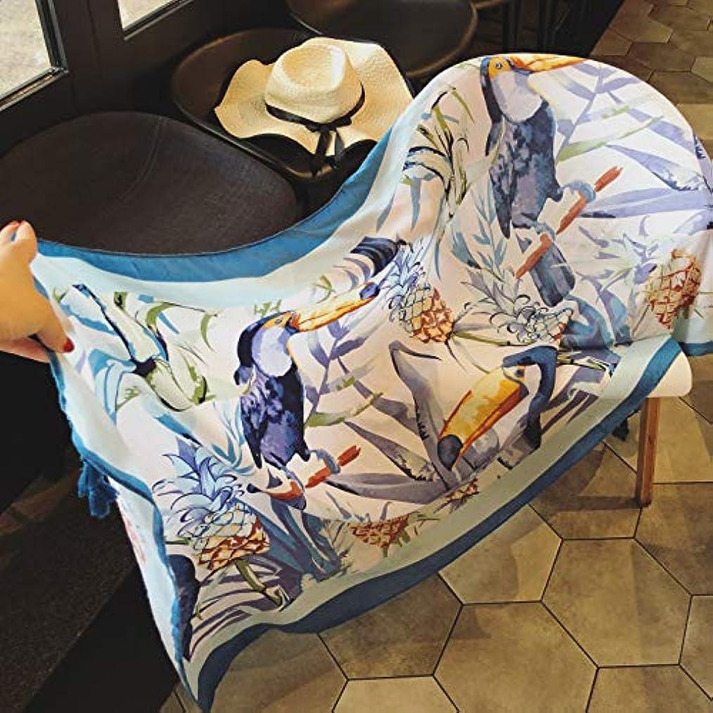 ドナウ川電気技師効能CPJ Hanfengスカーフ、女性夏の美しい鳥、コットンとリネン、スカーフスカーフ、シェーディングスカーフ、ショールビーチタオル