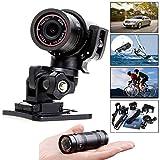 YIMING アクションカメラ ミニ 超小型 F9 1080 120度広角レンズ防水アルミ合金 バイク・自転車用ドライブレコーダースポーツカメラ DV