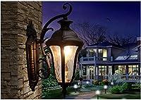 KY LEE 玄関照明 おしゃれ 外灯 ランプ 門灯 壁掛け照明 照明 ポーチライト LED ウォールライト プロヴァンス風 人魚の形