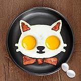 興味深いキッチン用可愛い猫型卵揚げ金型フライドエッグモールドオムレツ金型お弁当作り型 GUIling