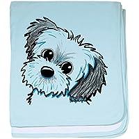 CafePress – Shih Tzu Sweetie – スーパーソフトベビー毛布、新生児おくるみ ブルー 075423039925CD2