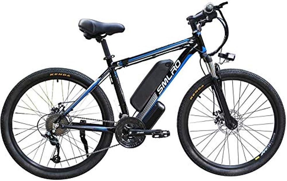 隣接日没疫病電気マウンテンバイク、大人のための大人の取り外し可能な容量のリチウムイオン電池(48V13Ah 350W)、電動自転車、完全シマノ21速トランスミッション、電子自転車用電動自転車,D