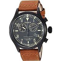 Timex メンズ トッドスナイダー ウォーターベリー クロノ 42mm One Size ブラック/ブラウン