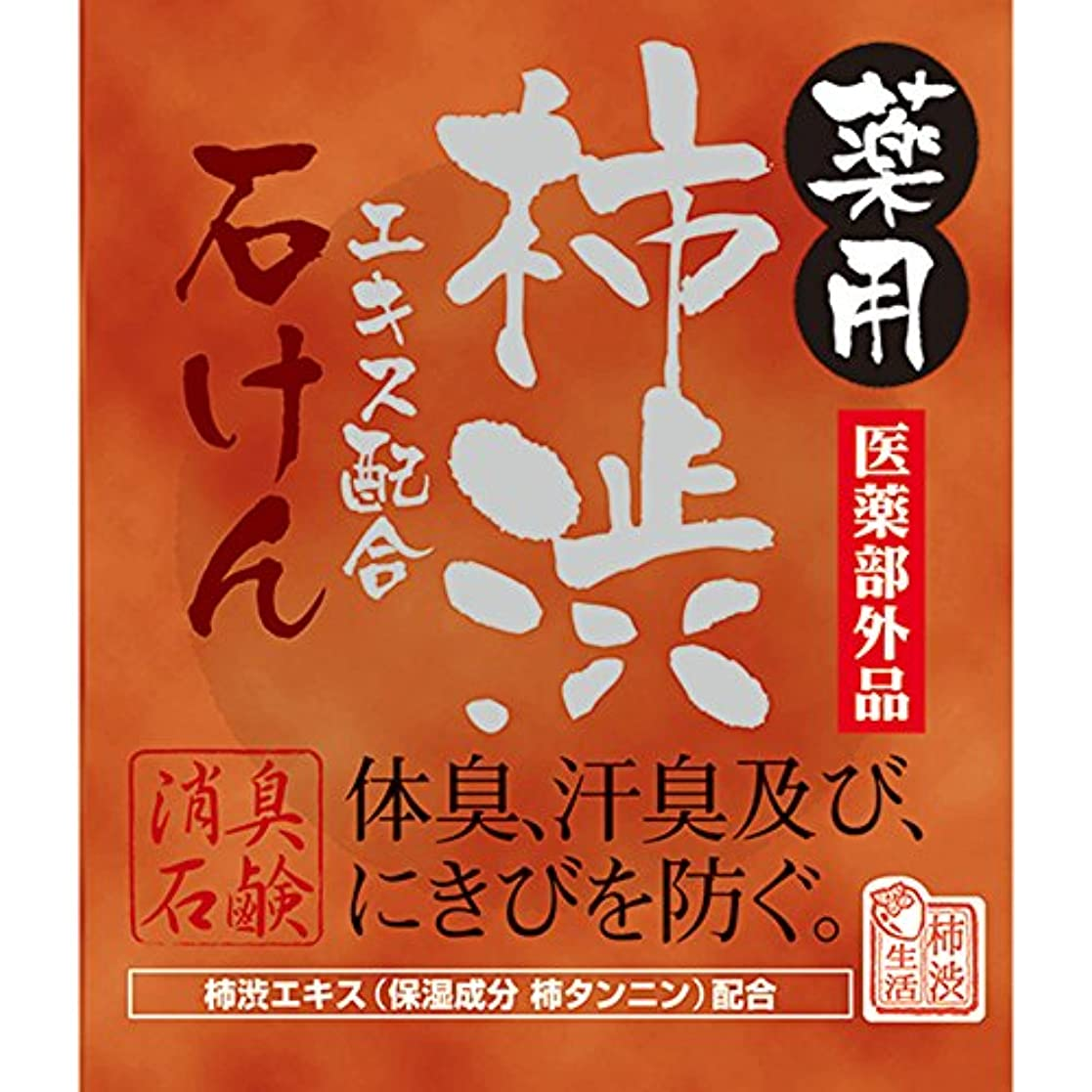 ゴミ思慮のないダウンタウン薬用柿渋石けん 100g