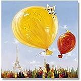 油絵装飾的な エレガントな純粋な手描きの油絵抽象スタイル熱気球寝室用リビングルームベッドサイド装飾絵画なしフレーム 家の装飾のためのウォールアート (サイズ : 30×30cm)