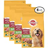 PEDIGREE Adult with Real Beef Dry Dog Food 3kg Bag, 4 Pack