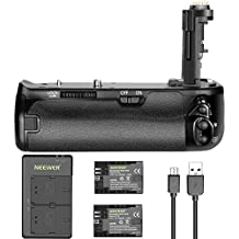 Neewer Replacement BG-E21 Battery Grip with 2-Pack 2000mAh Replacement LP-E6 Battery and Micro USB 5V / 2.1A Input Dual Charger for Canon 6D Mark II DSLR Camera