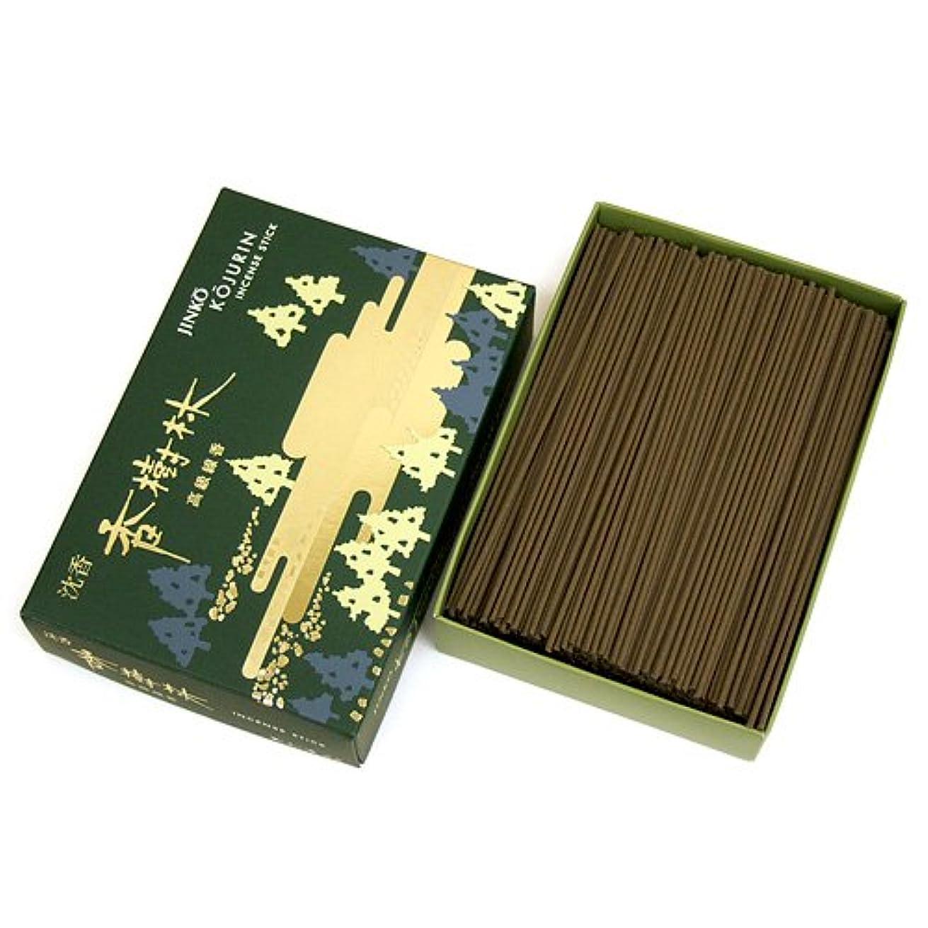 クランプ曲がった相反する家庭用線香 沈香 香樹林 短寸 徳用大型箱(箱寸法15×10.5×3.5cm)◆爽やかな沈香の香りのお線香(玉初堂)