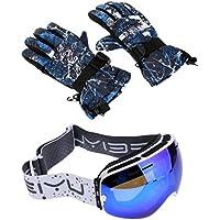 MagiDeal大人用スキースノーボード雪ゴーグルUV保護曇り止め防水防風熱スキー手袋