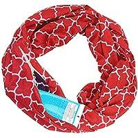 Coerni インフィニティスカーフ ラップスカーフ 隠しファスナーポケット付き インフィニティスカーフ トラベルスカーフ 71×22 inch マルチカラー RTHO-Q46