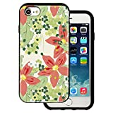 Best BG iPhone 4ケース - mitas iPhone7 ケース ハイブリットケース 耐衝撃 (913) ユリ柄 ベージュ Review