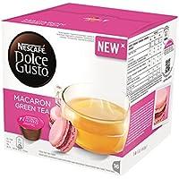 ネスカフェ ドルチェグスト(DOLCE GUSTO) MACARON GREEN TEA (NEW!) - カプセル 16杯分×4箱 - 並行輸入品