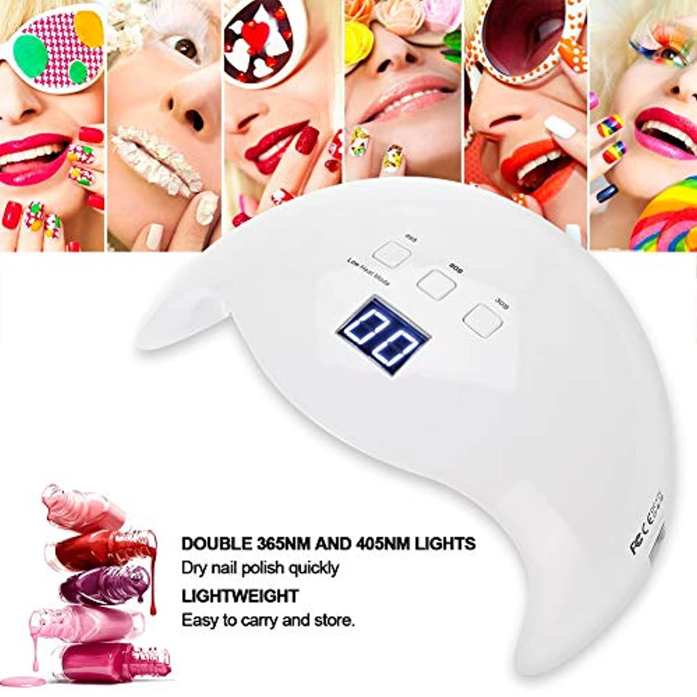 無礼に機関ぴったりネイルランプ、36W UV LEDドライヤーネイルジェルポリッシュ乾燥硬化マニキュアツール(私たち)