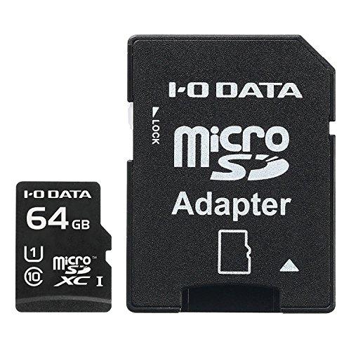 I-O DATA microSDカード 64GB UHS-I(スピードクラス1)/Class10対応 Nintendo Switch動作確認済 耐X線 変換アダプター付 EX-MSDU1/64G