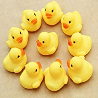 FEITONG新しい1ダース12pc Rubber Duck Ducky Duckie赤ちゃんシャワー誕生日パーティーFavors