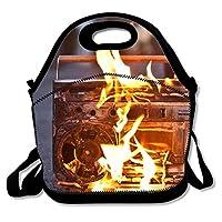ランチバッグThe Broadcast Of Burning レディース 断熱 ランチトート 大容量 ランチトート ハンドバッグ 折りたたみ可能