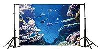 Yeele 10x 6.5ftシャコガイCoral Reef atoll写真背景水族館アンダーウォーターDiving Exploration Anemonefish魚写真の背景幕ビニール水槽ダイビング水泳Photo Shoot Studio小道具